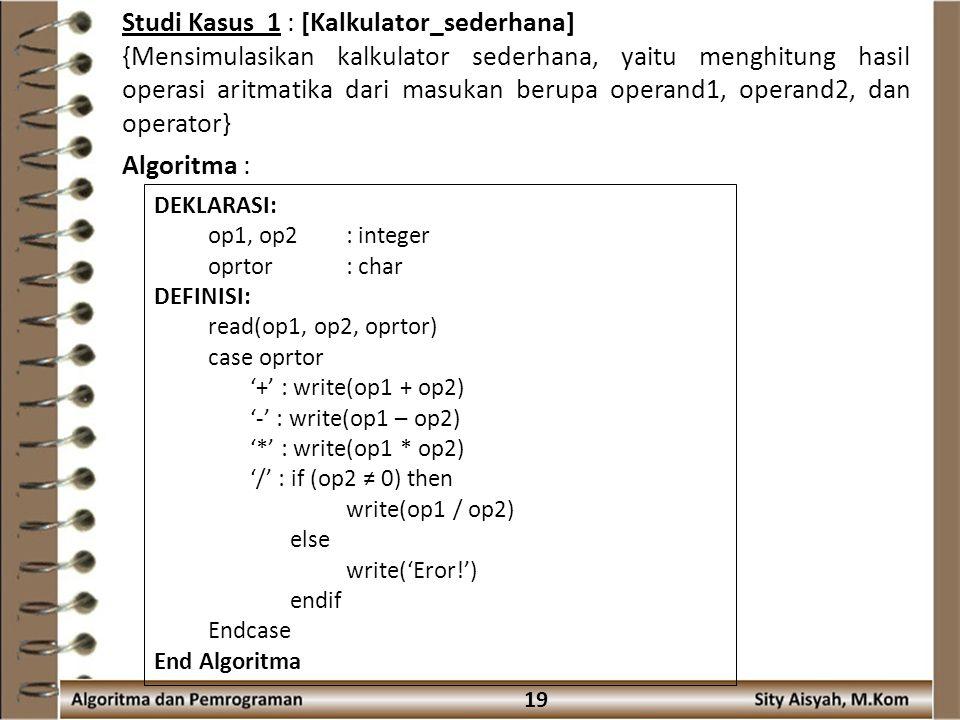 Studi Kasus 1 : [Kalkulator_sederhana]